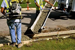 Concrete sidewalk and curb repair Royalty Free Stock Photos