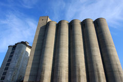 Concrete silo Royalty Free Stock Photography
