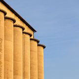 Concrete silo Royalty Free Stock Photo