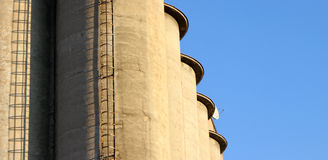 Concrete silo Stock Photography