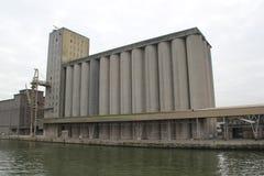Concrete silo's Stock Foto's
