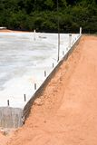 Concrete Slab. A concrete construction slab is ready for to be built on it royalty free stock photos