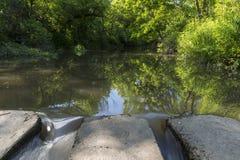 Concrete Slab Bridge & River Scenic Stock Images