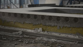 Concrete slab with a heater in the shop stock video footage