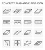 Concrete slab icon. Concrete slab and floor icon set stock illustration