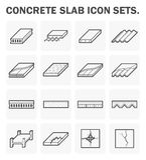 Concrete slab icons Stock Photos