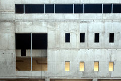 Concrete slab wall. Concrete block wall of unfinished building without windows and door Royalty Free Stock Image