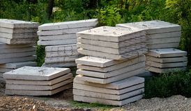 Concrete slabs Stock Photo