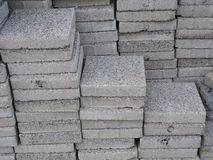 Concrete slabs. For preparation work royalty free stock photo