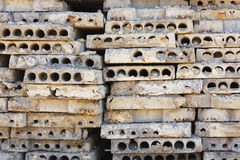 Concrete slabs. On construction site royalty free stock images