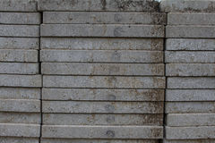 Concrete slabs and construction site workers Royalty Free Stock Photo