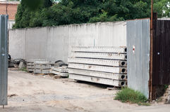 Concrete slabs outside Stock Image