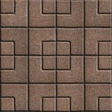 Concrete Slabs Paving Brown in the Form Square of Stock Images