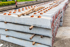 A concrete sleeper for railroad tie Royalty Free Stock Images
