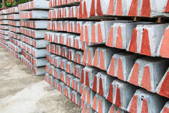 A concrete sleeper for railroad tie stock images