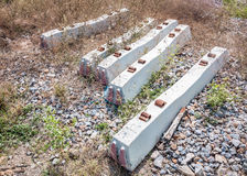 Concrete sleepers Stock Image