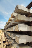 Concrete sleepers Royalty Free Stock Photos