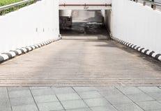Concrete slope way. Royalty Free Stock Image