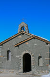 Concrete small church. With blue sky in the background, Zermatt, Switzerland royalty free stock photos