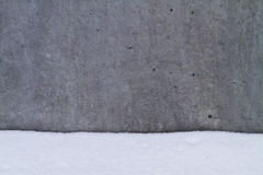 Concrete in snow. Detail of concrete building in snow stock photo