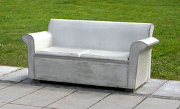 Concrete Sofa. In park, symbol for uncomfortability Stock Photography