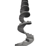 Concrete spiral staircase, 3D illustration Stock Photo