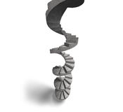 Concrete spiral staircase, 3D illustration Royalty Free Stock Photography