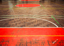 Concrete sport parquet court in sport Hall Royalty Free Stock Photos