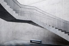 Concrete Stair in Akita Museum of Art Royalty Free Stock Image