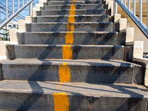 Concrete Stair of Overpass Stock Photography