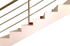 Concrete stair with railing stainless steel Royalty Free Stock Photography
