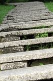 Concrete staircase that curve to infinity with very low steps Stock Photos