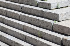 Concrete staircase at the entrance to the building. Stairs going up diagonally. Stair concrete staircase at the entrance to the building. Concrete stairs going stock photos