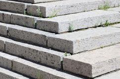 Concrete staircase at the entrance to the building. Stairs going up diagonally. Stair concrete staircase at the entrance to the building. Concrete stairs going stock photography