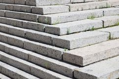 Concrete staircase at the entrance to the building. Stairs going up diagonally. Stair concrete staircase at the entrance to the building. Concrete stairs going royalty free stock image