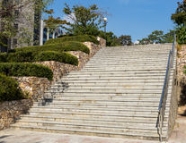 Concrete staircase Royalty Free Stock Images