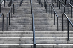 Concrete staircase with iron railings Stock Photo