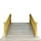 Concrete Staircase isolate on white Royalty Free Stock Image