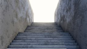 Concrete Staircase Leading Up To Brught Day Light Royalty Free Stock Photo