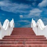Concrete staircase with Thais dragon Stock Photos