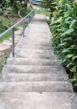 Concrete staircase to the small port. Royalty Free Stock Images