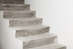 Concrete staircase under construction Royalty Free Stock Images