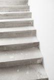 Concrete staircase under construction Stock Photo