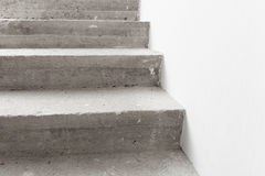 Concrete staircase under construction Royalty Free Stock Photo
