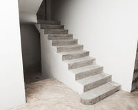 Concrete staircase Royalty Free Stock Photography