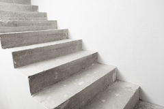 Concrete staircase under construction Stock Photography