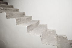 Concrete staircase under construction Royalty Free Stock Photos