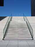 Concrete stairs. Stairway out of concrete in bright sunshine Stock Photography