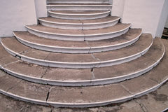 Concrete Stairs. An old building's old concrete stairs Royalty Free Stock Photo