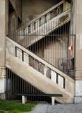 Concrete Stairs. Greystone Concrete Stairs with bench Royalty Free Stock Images